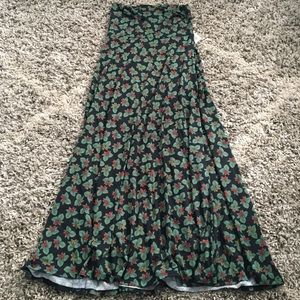 LuLaRoe XS Multicolor Floral Maxi Skirt XS NWT
